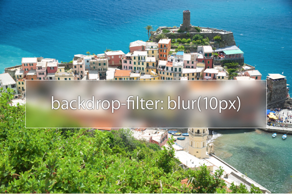 Backdrop Filter Example