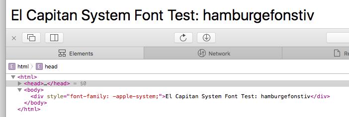 Mac OS X 10.11 El Capitan System Font