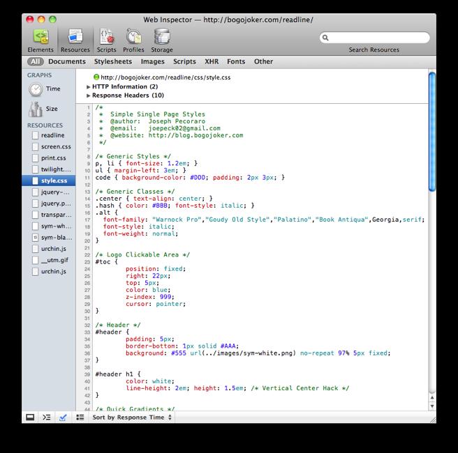 CSS Syntax Highlighting