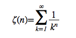 Riemann's Zeta Function in MathML