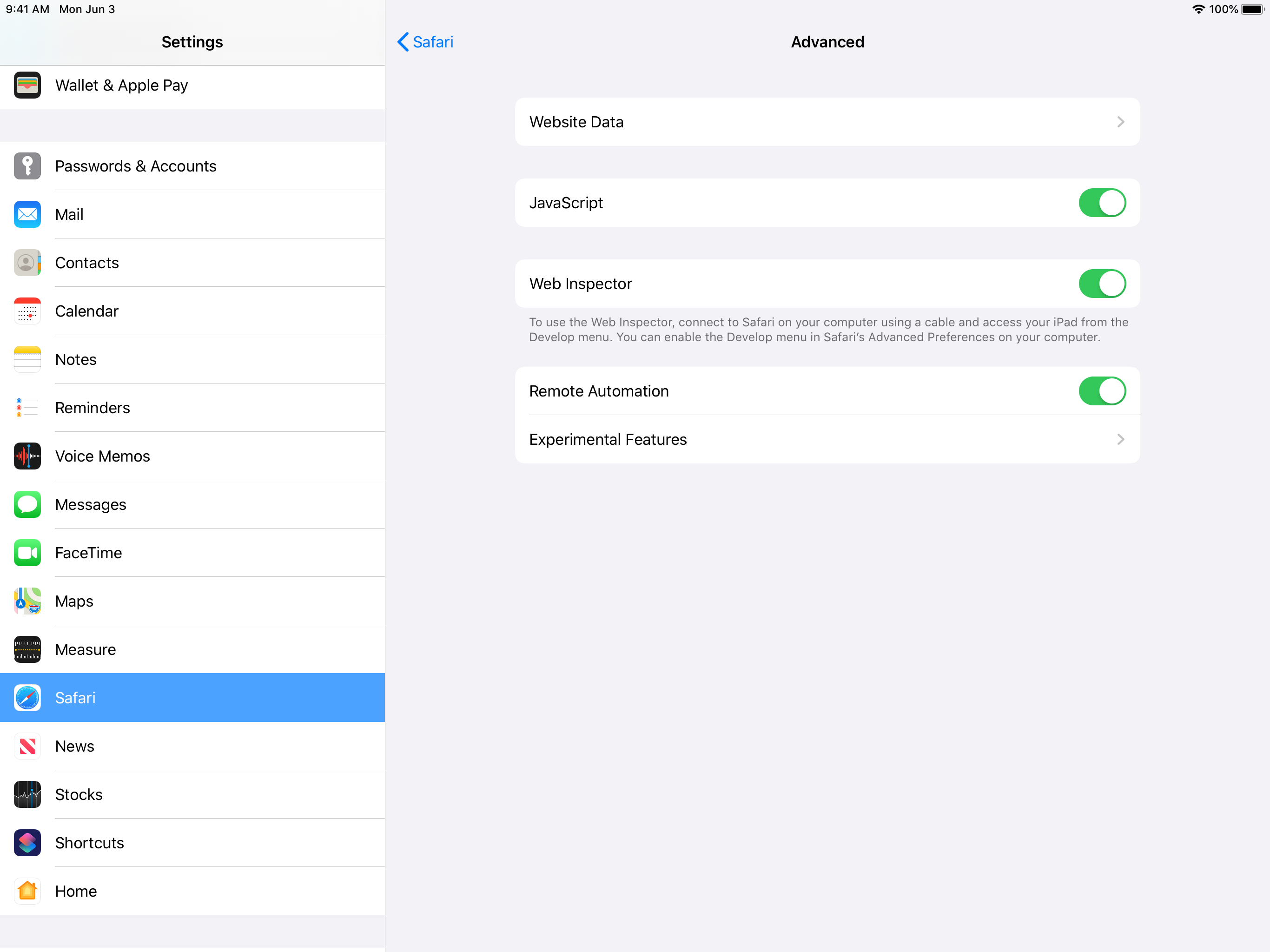 Remote Automation Setting on iOS