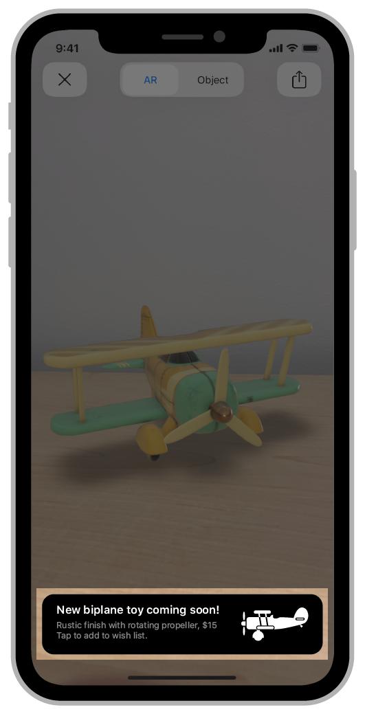 AR QuickLook Custom HTML Banner