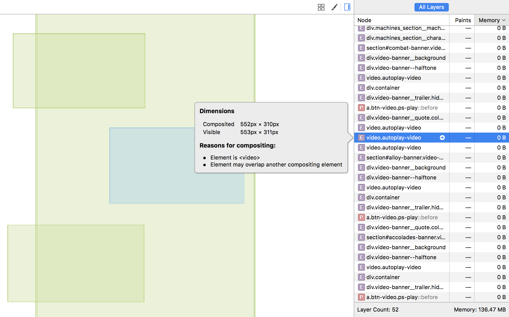 Visualizing Layers in Web Inspector | WebKit